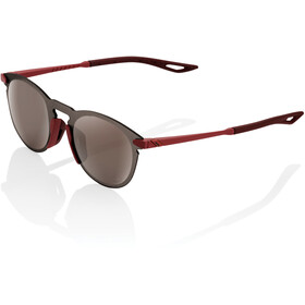 100% Legere UltraCarbon Round Lunettes, soft tact crimson/hiper mirror